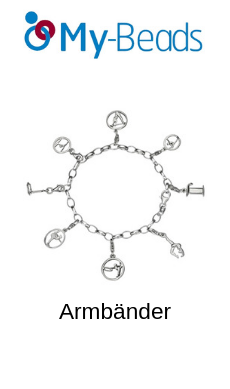 My-Beads Charms Armbänder Silber