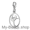 """My-Beads Silver Charm 618 """"Figure Skating"""" Size: 15 mm Material: 925 Sterling Silver My-Beads Sterling Silver Charm with Lobster Clasp. Perfect sport jewelry gift for a gymnast.  Jewelry gift box included. This sport jewelry article can be ordered in combination with a Sterling Silver Bracelet.  Sterling Silver Bracelet with lobster clasp. Made in Germany high quality.  #MyBeadsSport #FigureSkating"""