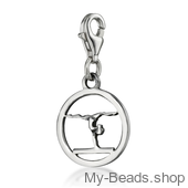 "My-Beads STerling Silver Charm 611 ""Gymnast Balance Beam""