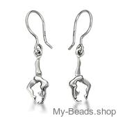 "My-Beads zilveren oorsieraad 712 ""Boogje / bruggetje"" gymnastiek cadeau turnster.."