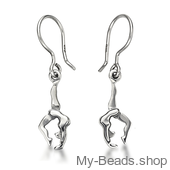 "My-Beads zilveren oorsieraad 713 ""Boogje / bruggetje"" turnen of gymnastiek cadeau."