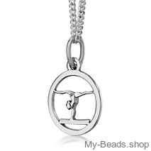 "My-Beads Sterling Silver pendant 443 ""Gymnast Balance Beam""