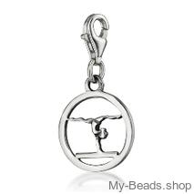 "My-Beads Charm 611 ""Gymnast Balance Beam""."