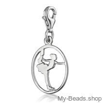 "My-Beads Silver Charm 618 ""Figure Skating""