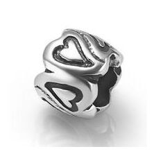 My-Beads Sterling Silver Bead Heart
