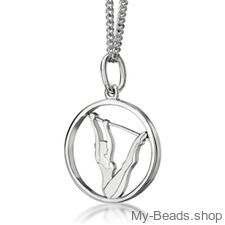 """My-Beads Sterling Silver pendant 445 """"Uneven Bars"""" Size: 18 mm Sterling Silver pendant, """"Uneven Bars"""" Materials: Sterling Silver / 925 Perfect sport jewelry gift for a gymnast. #MyBeadsSport #Gymnastics #Gymnast #Artistic Gymnastics #Sportgift"""