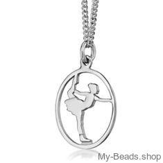 """Silber Sportschmuck Anhänger, """"Schlittschuhlaufen - Eiskunstlauf"""" Tolle geschenkidee, Eiskunstläufer, Trainerinnen oder Trainer. #MyBeadsSport #Schlittschuhlaufen #Eiskunstlauf"""