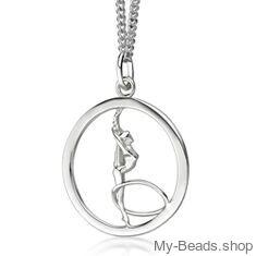 My-Beads Silber Anhänger Turnen 447 Rhythmische Sportgymnastik RSG - Reifen. Silber Sportmotiven Turnen / Gymnastik. #MyBeadsSport #Gerätturnen #Rhythmische Sportgymnastik #Elemente #RSG