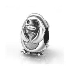 My-Beads 014 Pinquin. Deze zilveren bedel past op alle gangbare bedelarmbanden.  Edelmetaal: echt zilver, 925 (1e gehalte), nikkelvrij.