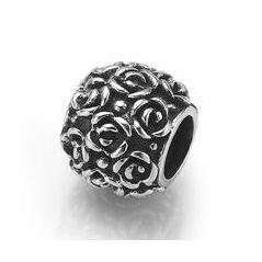 My-Beads 017 Bloemetjes.   Deze zilveren bedel past op alle gangbare bedelarmbanden.  Edelmetaal: echt zilver, 925 (1e gehalte), nikkelvrij.