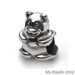 My-Beads bedel teddybeer zilver.   Deze zilveren bedel past op alle gangbare bedelarmbanden.  Edelmetaal: echt zilver, 925 (1e gehalte), nikkelvrij.  Inclusief geschenkverpakking.