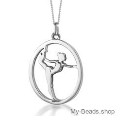 My-Beads sterling silver pendant gymnast on floor gift gymnastics  Perfect surpise for a gymnast, trainer or coach.  #MyBeadsSport #Gymnastics #Gymnast #ArtisticGymnastics #Sportgift