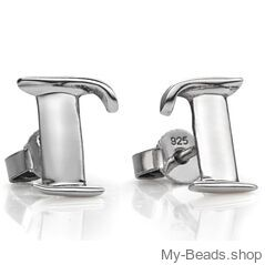 """Earrings 711 """"Pegasus"""" Size: 15 mm Material: 925 Sterling Silver Including a gift box V.A.T. included Perfect sport jewelry gift for a gymnast. #MyBeadsSport #Gymnastics #Gymnast #Sportgift"""