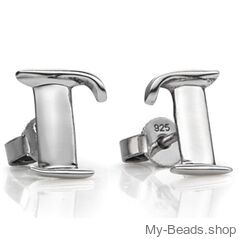 """My-Beads Sterling Silver Earrings 711 """"Pegasus"""" Size: 15 mm Material: 925 Sterling Silver Including a gift box V.A.T. included Perfect sport jewelry gift for a gymnast. #MyBeadsSport #Gymnastics #Gymnast #Sportgift"""