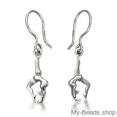 """My-Beads Sterling Silver Earrings 713 """"Hand Stand"""" Size: 15 mm Material: 925 Sterling Silver Including a gift box  V.A.T. included Perfect sport jewelry gift for a gymnast. #MyBeadsSport #Gymnastics #Gymnast #Sportgift"""