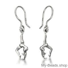 """My-Beads Sterling Silver Earrings 712 """"Hand Stand"""" Size: 20 mm Material: 925 Sterling Silver Including a gift box V.A.T. included Perfect sport jewelry gift for a gymnast. #MyBeadsSport #Gymnastics #Gymnast #Sportgift"""
