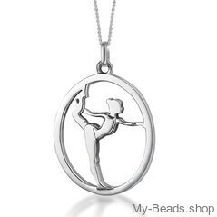 """My-Beads Sterling Silver gift pendant 441 """"Gymnast on Floor"""" Size: 18 mm Material: 925 Sterling Silver Including a gift box V.A.T. included + My-Beads Silver Earrings 714 """"Gymnast on Floor"""" Size: 15 mm Material: 925 Sterling Silver Including a gift box V.A.T. included Perfect sport jewelry gift for a gymnast, trainer or coach. Gymnastic Christmas gift. #MyBeadsSport #Gymnastics #Gymnast #Sportgift"""
