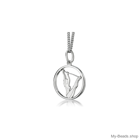 "My-Beads Sterling Silver pendant 445 ""Uneven Bars""