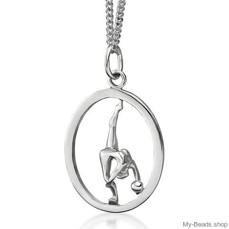 My-Beads Sterling Silver pendant 446 Rhythmic Gymnastics Ball