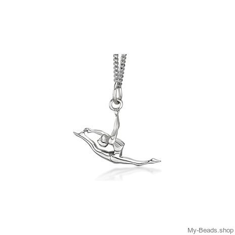 My-Beads Sterling Silver pendant 448 Split Leap / Jump