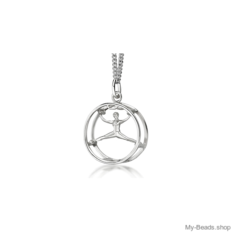 "My-Beads Sterling Silver pendant 449 ""Wheel gymnastics""​.  Gymnastics Gifts that your gymnast will love! Perfect birthday gift idea for gymnasts who love cart wheels. #MyBeadsSport #WheelGymnastics​ #Gymnast #Gymnastics"