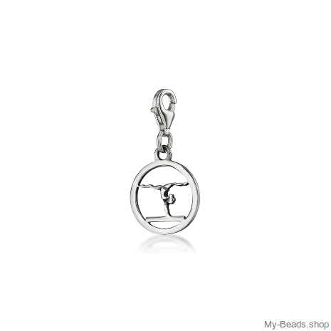 "My-Beads Charm 611 ""Gymnast Balance Beam""."