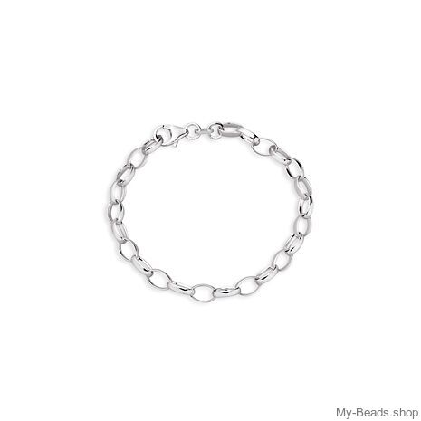 My-beads Charms Bracelet   Material: 925 Sterling Silber Silver beveled curb bracelet with lobster clasp.   Made in Germany high quality.