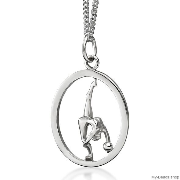 My-Beads Sterling Silver pendant 446 Rhythmic Gymnastics Ball Size: 22 mm Sterling Silver pendant, Materials: Sterling Silver / 925 Perfect sport jewelry gift for a gymnast. #MyBeadsSport #Rhythmic Gymnastics #RG #Ball #Floo